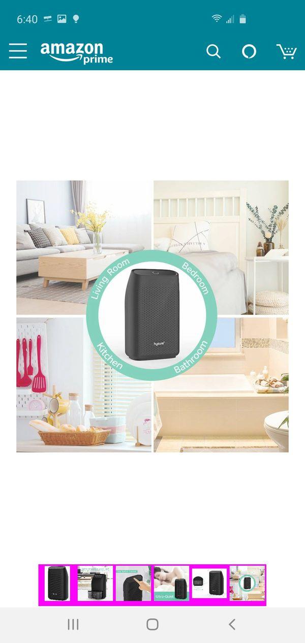 (C2) Hysure Dehumidifier,700ml Compact Deshumidificador 1200 Cubic Feet(215 sq ft) Quiet Room Dehumidifier, Portable Dehumidifier