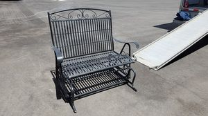 Patio furniture: Wrought iron glider w/ 2 matching chairs for Sale in Henderson, NV