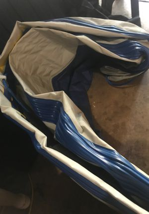 Seahawks three person inflatable boat with oars and life jackets for Sale in Douglasville, GA