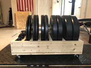 Custom Mobile Weight Tray (Weights not included) for Sale in Savannah, GA