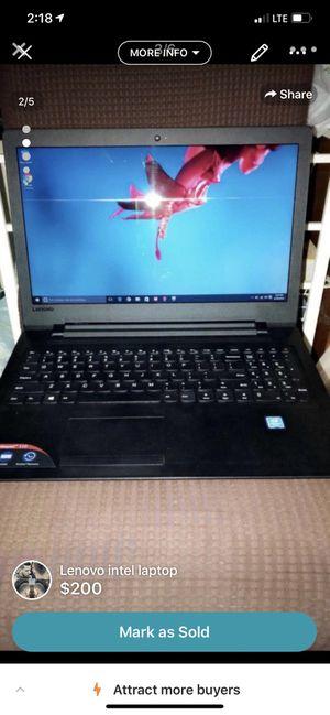Lenovo intel laptop for Sale in Fresno, CA