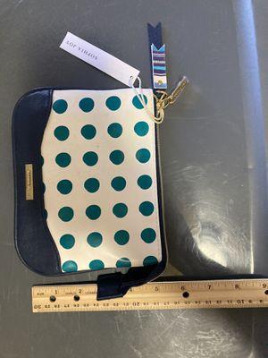Navy blue aqua polkadots small make up bag brand new for Sale in Tijuana, MX