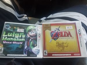 2 NINTENDO 3DS GAMES LUIGIS MANSION AND THE LEGEND OF ZELDA for Sale in Kissimmee, FL