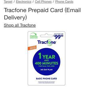 Track phone $100 plan card for Sale in Westport, WA