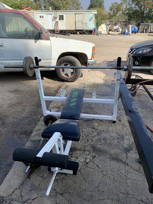 Bench with Olympic bar for Sale in San Bernardino, CA