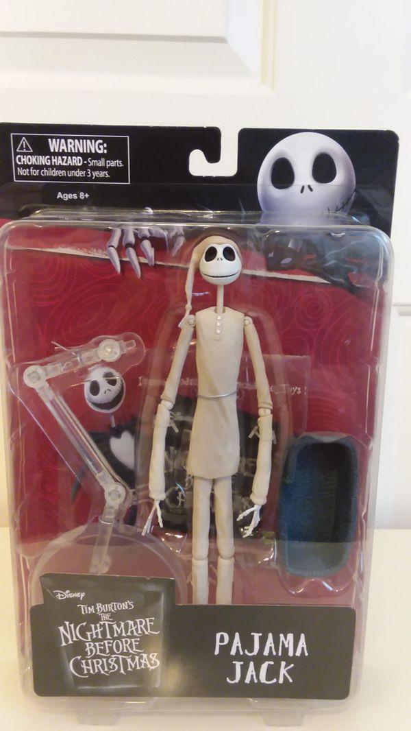 Disney Tim Burton's The Nightmare Before Christmas Pajama Jack Action Figure