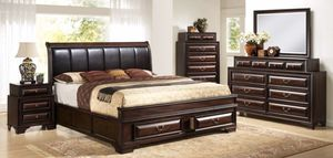NEW GLORIA QUEEN BEDROOM SET. INCLUDES BED DRESSER MIRROR AND TWO NIGHT STANDS. ONLY $999. KING $1099. CHEST $299. FINANCING AVAILABLE for Sale in Lakeland, FL