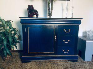 Beautiful Blended Blue Buffett w/Gold Trim for Sale in Portland, OR