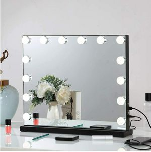 Large Vanity Mirror with Lights, Hollywood Lighted Makeup Mirror with Dimmable LED Bulbs for Sale in South Gate, CA