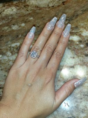 Size 7 real silver white cz ring for Sale in Houston, TX