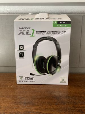 Turtle BeachEar Force XL1 Officially Licensed Amplified Stereo Gaming Headset for Xbox 360 for Sale in Las Vegas, NV