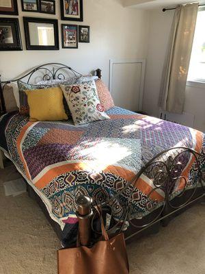 Queen size mattress, box spring, memory mattress foam, bed frame for Sale in Alexandria, VA
