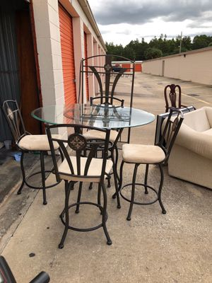 Breakfast Nook table with stand for Sale in Golden Oak, FL