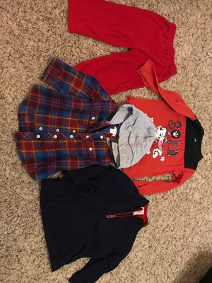 2t Boys clothing for pieces sold together one fleece One long sleeve shirts one pants for Sale in Scottsdale, AZ