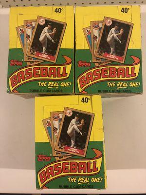 1987 Topps unopened baseball card packs for Sale in Rutland, MA