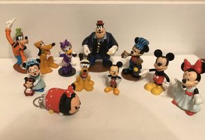 Disney Toys figures mostly collectible 11 figures Mickey Mouse Pluto mini mouse for Sale in Kirkland, WA