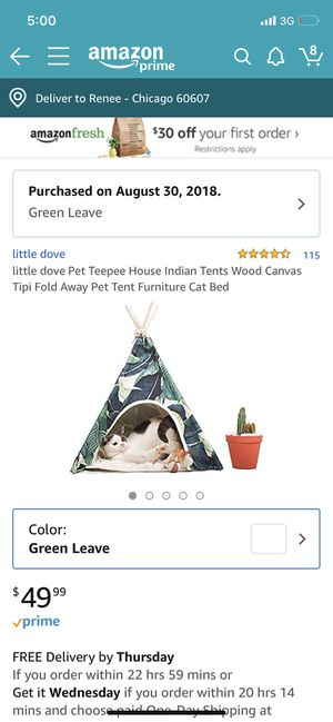 Pet teepee for Sale in Chicago, IL