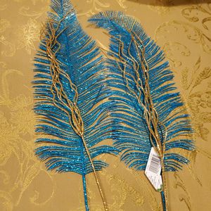 Blue/gold Leaf Picks, 4 Pieces for Sale in Acton, MA