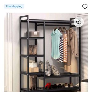 Tribesigns Freestanding Metal Frame Closet Organizer for Sale in Bakersfield, CA