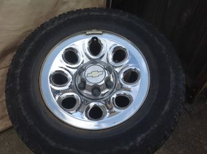 Chevy rims and tires set of 4 for Sale in Puyallup, WA
