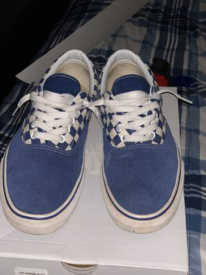 Blue checkered vans ERA (Size 11) for Sale in Marysville, CA
