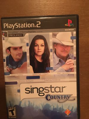 Sony PlayStation ps2 sing star country for Sale in Visalia, CA