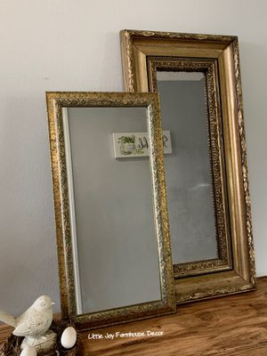 A Pair of Vintage Decorative Mirror/Wall Mirror/Table Mirror for Sale in West Covina, CA