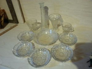 Set of glass crystal dishes vase candy dessert sundae cup for Sale in Rockville, MD