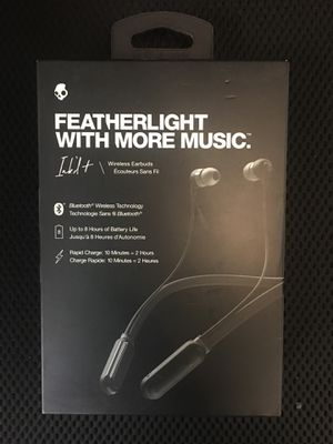 SkullCandy Black/Grey Ink'd Wireless Earbuds - S2IQW for Sale in Columbus, OH