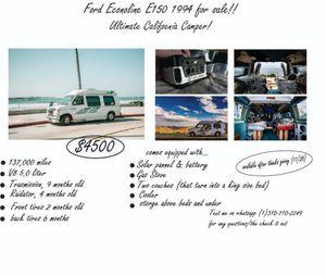 Conversion camper. Ford Econoline E150 1994 for Sale in San Diego, CA