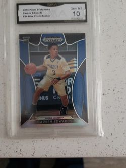 Carsen Edwards Rookie ! Gma 10 Nice Card!blue Draft pick Prizm ! for Sale in Taunton,  MA