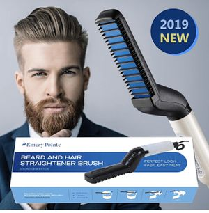 Beard iron, improved electric beard straightener and hair straightener, multifunctional comb to straighten beard and hair, the best beard straightene for Sale in Hoboken, NJ