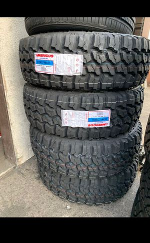 BRAND NEW TIRES LT 285/70r17 AMERICUS M/T 10PLY FOR SALE ALL 4 TIRES $669 WITH FREE MOUNT AND BALANCE for Sale in San Jose, CA