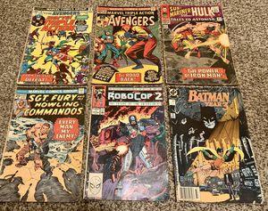 Marvel Avengers comic books vintage robocop 2 Batman for Sale in Houston, TX