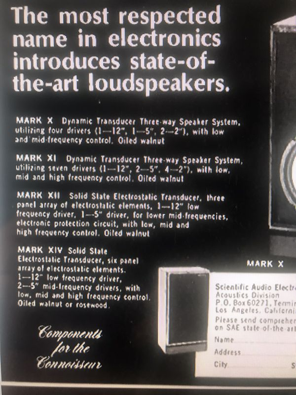 VINTAGE SPEAKERS!!RARE SAE MARK X DYNAMIC TRANSDUCER THREE WAY SPEAKERS