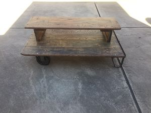 Industrial Cart Coffee Table for Sale in North Richland Hills, TX