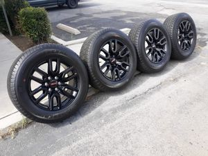 """20"""" GMC SIERRA RIMS AND TIRES for Sale in Fontana, CA"""