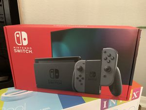 Nintendo Switch Console with Gray Joy-Con for Sale in Missouri City, TX