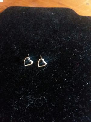 Sterling silver heart earrings for Sale in Northumberland, PA