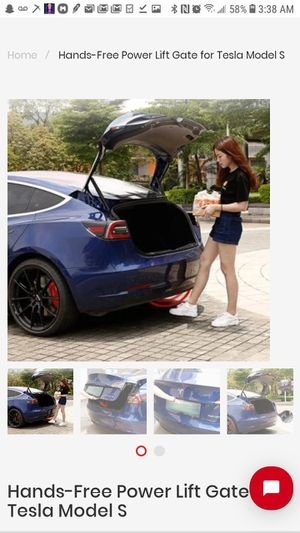 2012 -19 TESLA MODEL S OR 3 HANDS FREE TAIL GATE LIFT for Sale in West Hollywood, CA