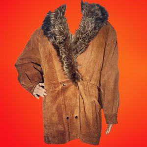 Vintage J.G. Hook light brown fox fur collar parka jacket for Sale in Atlanta, GA