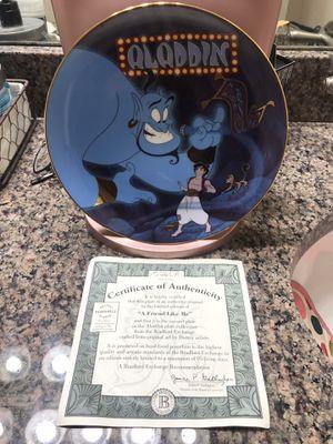Disney *A FRIEND LIKE ME* Aladdin plate Bradford Exchange MINT for Sale in Buda, TX