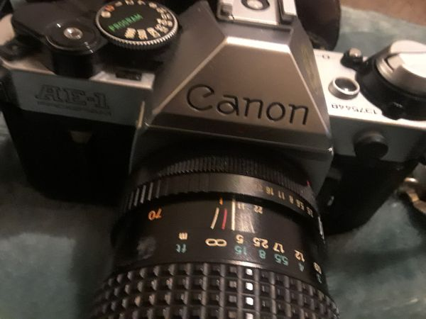 Canon AE-1program with lenses
