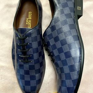 LV Damier Oxford Dress Shoes Size 9.5/10 for Sale in Silver Spring, MD