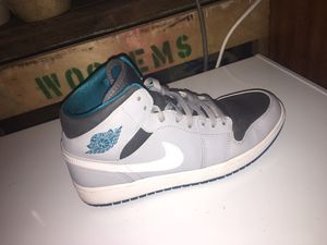 Nike Air Jordan 1 Mid (Cool Grey) (Tropical Teal) for Sale in Babson Park, FL