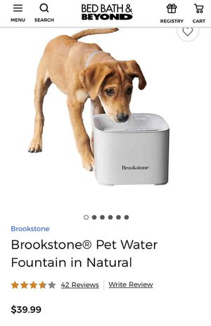 Brookstone Motion Sensor Water Fountain for Pets for Sale in Las Vegas, NV