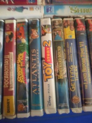 Walt Disney VHS movies thetes a total of 121 movies very rare ones to many to list. for Sale in Hialeah, FL