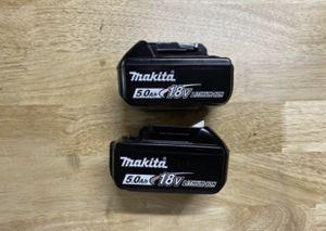 Makita 5.0 batteries $50 each for Sale in Covina, CA