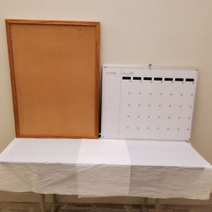 MESSAGE BOARDS - 1 CORK BOARD- 1 DRY ERASE BOARD with MONTH / DAY / NOTES - price each - firm for Sale in Arlington, VA