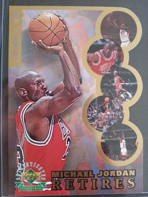 "MICHAEL JORDAN Chicago bulls 3.5 x 5"" Retirement collectable CARD for Sale in Laredo, TX"